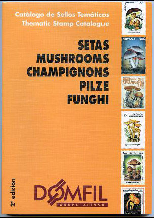Thematic stamps catalogue of MUSHROOMS