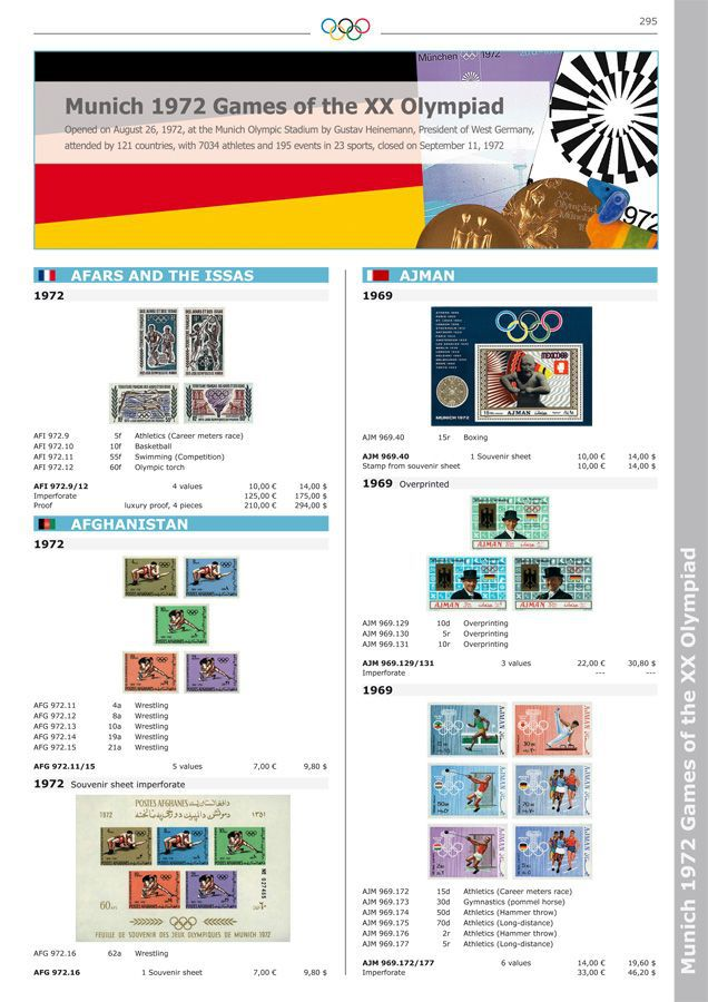 Official IOC Catalogue of Olympic Stamps. VOLUME II