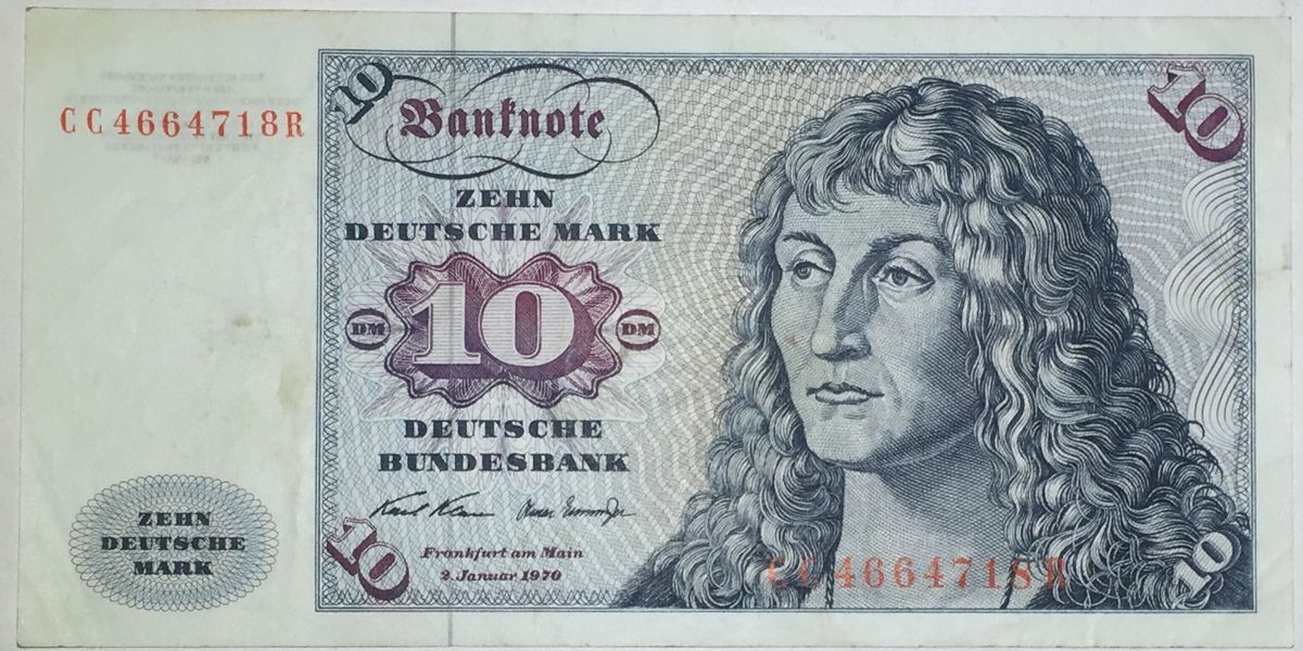 10 MARK DEUTSCHE 1960 ALEMANIA