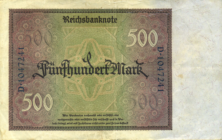 500 MARK ALEMANIA 1922 GERMANI