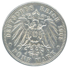 ALEMANIA 5 MARKS 1903 GERMANY