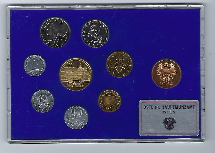 AUSTRIA 1984 COIN SET PROOF