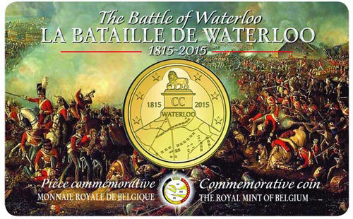 2,50€ BELGICA 2015 WATERLOO COIN CARD
