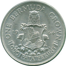 ELIZABETH II - 1964 - PLATA - 1 CROWN