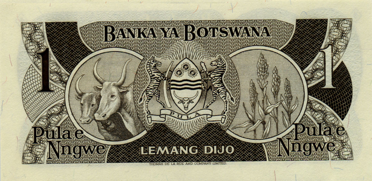BOTSWANA 1 PULA NOTE FROM 1983