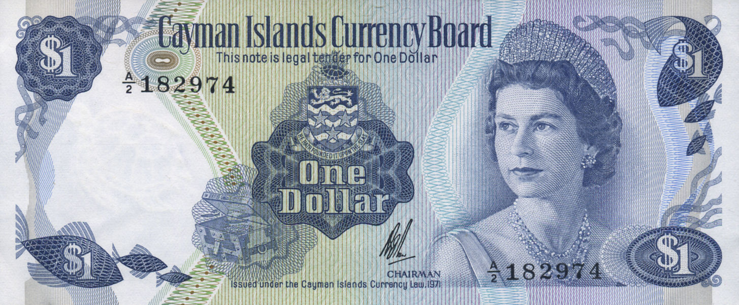 1 DOLLAR CAYMAN ISLANDS 1971