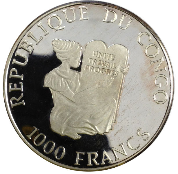 CONGO 1000 FRANCS 1997 OLYMPIC