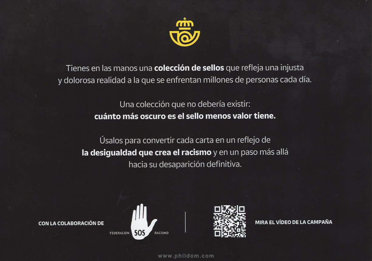LUCHA CONTRA EL RACISMO - EQUALITY STAMPS - CANCELED !!!!!