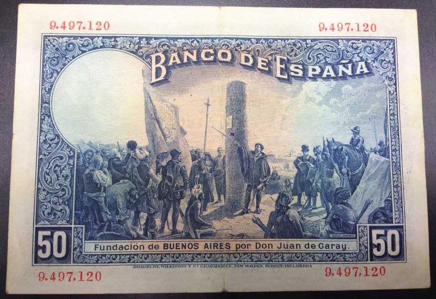 50 PESETAS 1927 SELLO  REPUBLICA