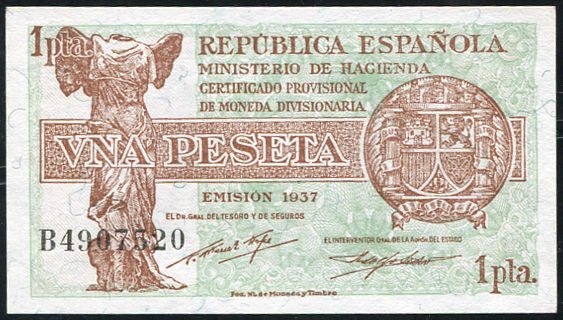 1 PESETA 1937 REPUBLICA