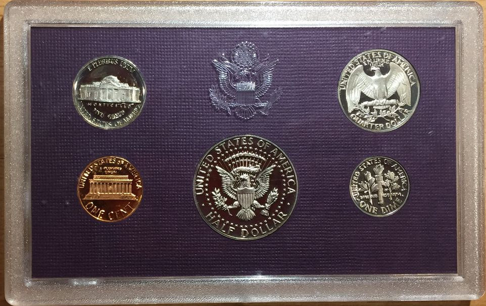 1985 UNITED STATES MINT PROOF SET - 5 COINS