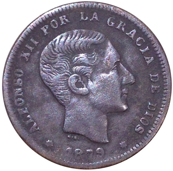 ALFONSO XII 10 cts Barcelona OM 1879