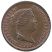 ISABEL II. 1859 - 5 CENTIMOS REAL