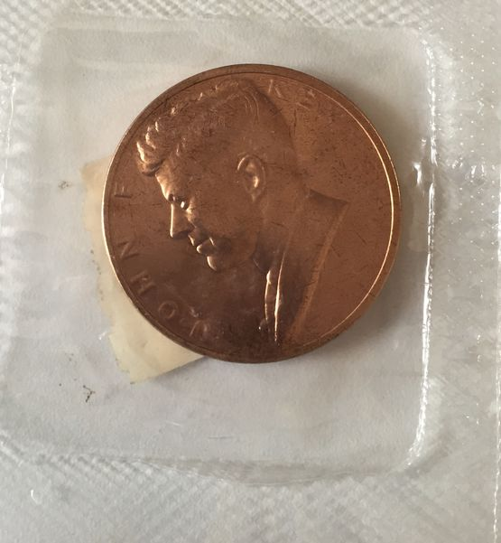 1961 JOHN F KENNEDY INAUGURAL MEDAL,UNCIRCULATED IN ORIGINAL PACKAGE