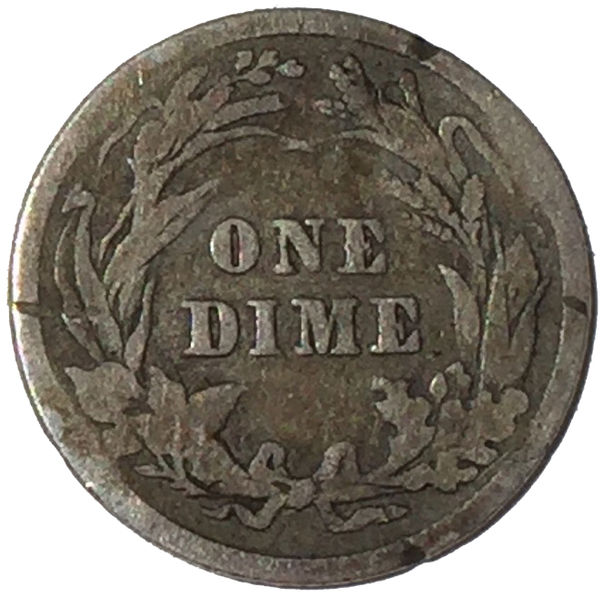 1907 SILVER BARBER ONE DIME USA