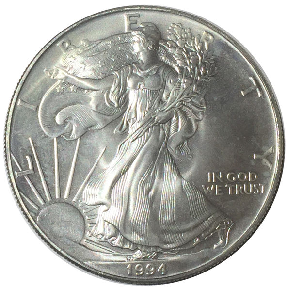 1994 AMERICAN SILVER EAGLE 1 OZ 1 DOLLAR