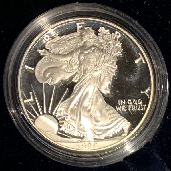 USA 1 DOLLAR AMERICAN EAGLE 1994 1 OZ 999 PLATA PROOF SILVER