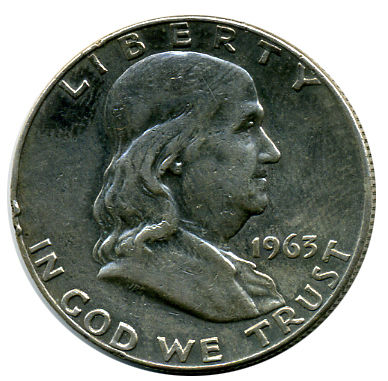 QUARTER DOLAR - 1963 D - FRANKLIN