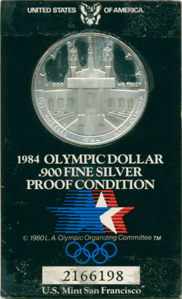 1984 OLYMPIC SILVER DOLLAR PROOF