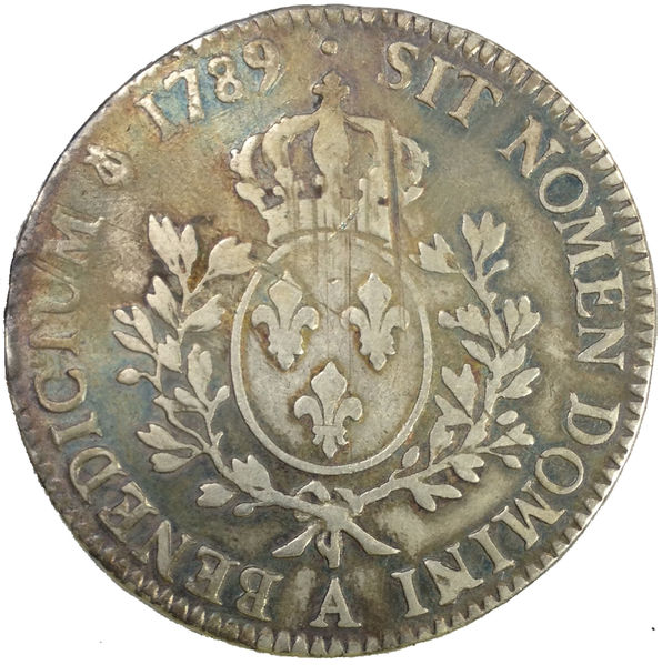LOUIS XVI 1789 ÉCU 1/10 PARIS
