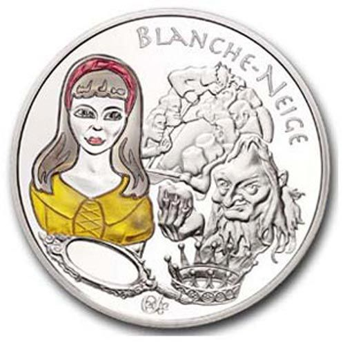 FRANCE SNOW WHITE1 1/2  EUROS 2002 PROOF SILVER MULTICOLOR