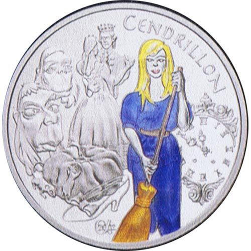 FRANCE 2002 CENDRILLON 1-1/2 EURO COLOUR SILVER