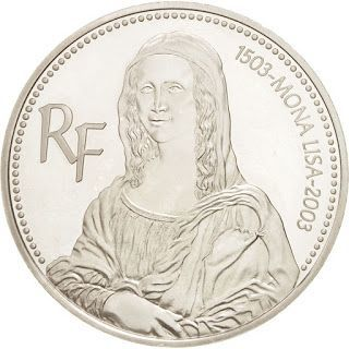 2003 FRANCE MONA LISA SILVER PROOF 1 1/2 EURO