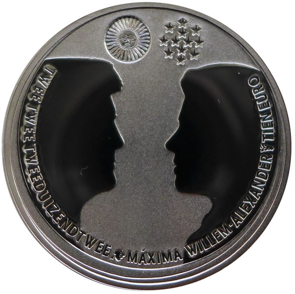 NETHERLANDS 10 EURO 2002 WEDDING OF WILLEM-ALEXANDER AND MAXIMA
