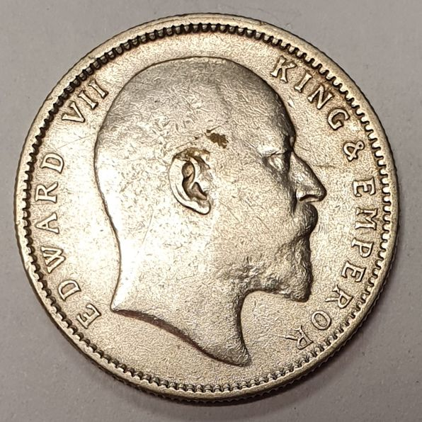 INDIA 1 RUPEES 1905 SILVER