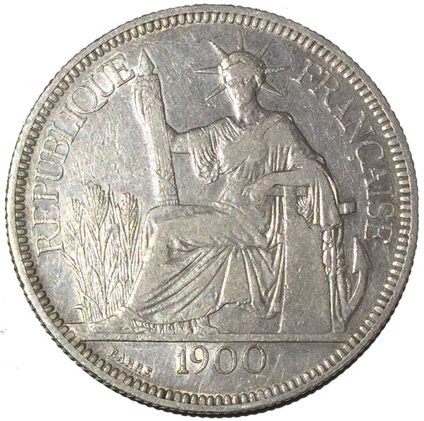 INDOCINA FRANCESE PIASTRA 1900 ARGENTO SILVER FRENCH INDOCHINA PIASTRE