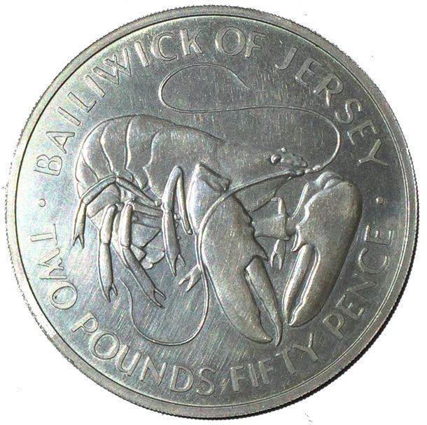 JERSEY 1972 SILVER  UNCIRCULATED LOBSTER
