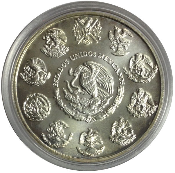 2009 MEXICO 1 ONZA PLATA PURA SILVER COIN NEAR UNCIRCULATED