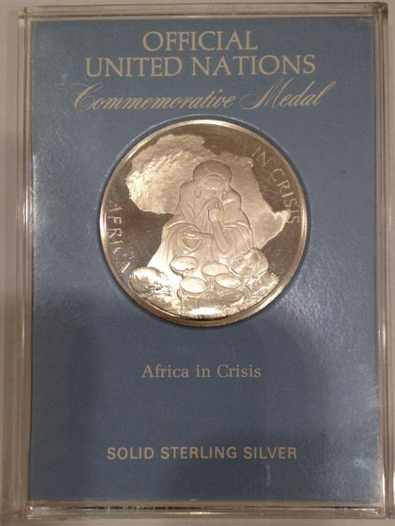 ONU UNITED NATIONS MEDALLA 1986 AFRICA IN CRISIS