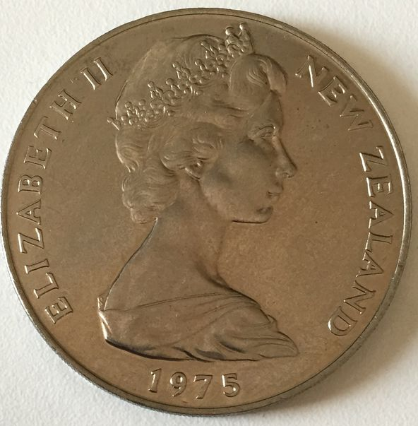 NEW ZEALAND 1 DOLLAR 1975 ELIZABETH II