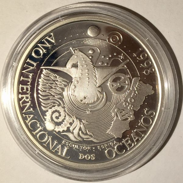 1000 ESCUDOS PORTUGAL 1998 SILVER PROOF PLATA