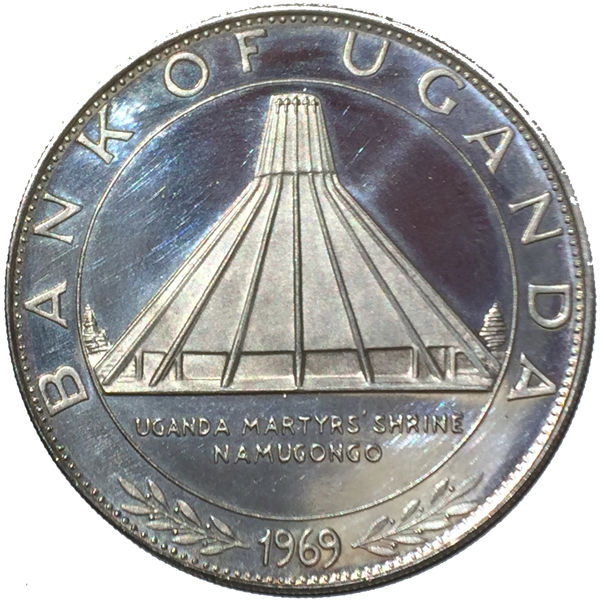 UGANDA VISIT OF POPE PAUL VI 10 SHILLINGS 1969