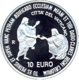 10 EURO 2003  25 YEARS PONTIFICATE OF POPE JOHN PAUL II