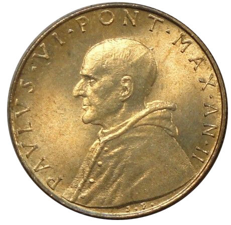 1964 VATICAN CITY 20 LIRE CARITAS CHILDREN PAUL VI